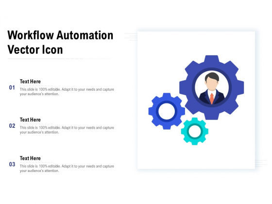 Workflow Automation Vector Icon Ppt PowerPoint Presentation Show Diagrams