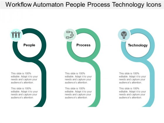 Workflow Automaton People Process Technology Icons Ppt PowerPoint Presentation Slides Skills
