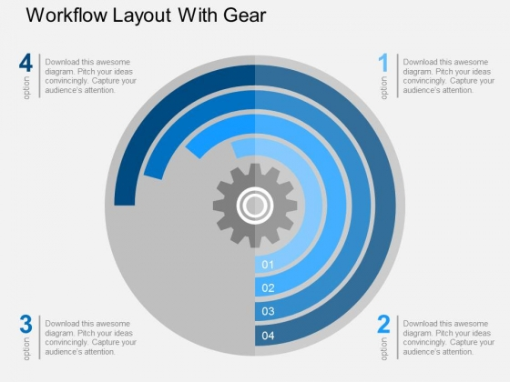 Workflow Layout With Gear Powerpoint Templates