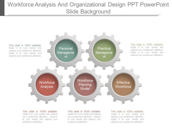 Workforce Analysis And Organizational Design Ppt Powerpoint Slide Background