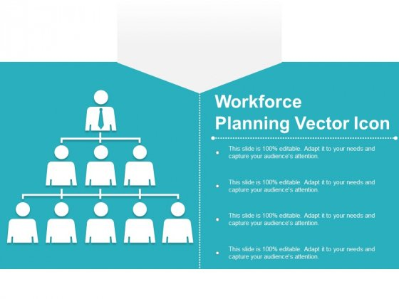 Workforce Planning Vector Icon Ppt PowerPoint Presentation Slides Backgrounds