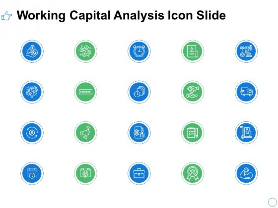 Working Capital Analysis Icon Slide Checklist Ppt PowerPoint Presentation Gallery Example File