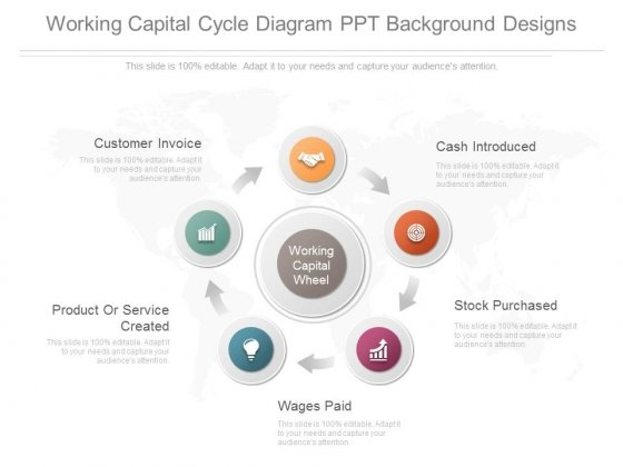 Working Capital Cycle Diagram Ppt Background Designs Powerpoint