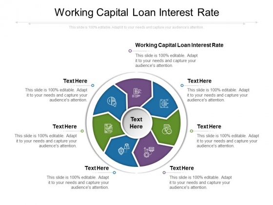 Working Capital Loan Interest Rate Ppt PowerPoint Presentation Infographics Graphics Design Cpb