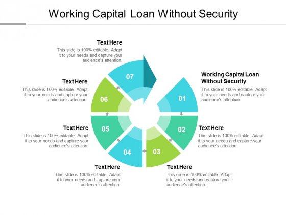 Working Capital Loan Without Security Ppt PowerPoint Presentation Slides Samples Cpb