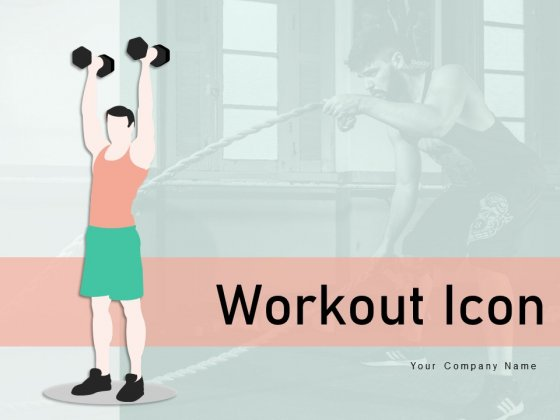 Workout Icon Individual Back Exercise Ppt PowerPoint Presentation Complete Deck