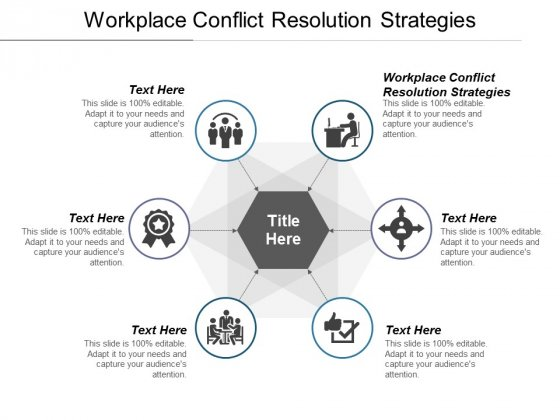 Workplace Conflict Resolution Strategies Ppt PowerPoint Presentation Summary Master Slide