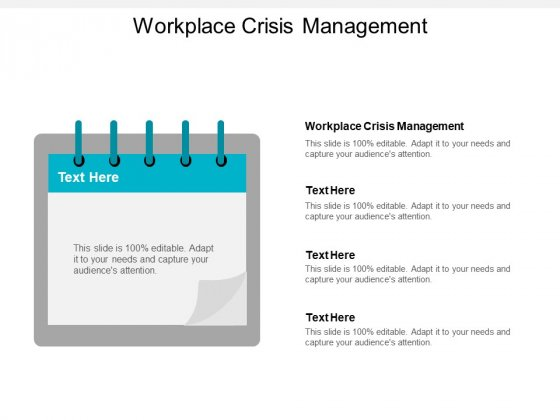 Workplace Crisis Management Ppt PowerPoint Presentation Outline Master Slide Cpb