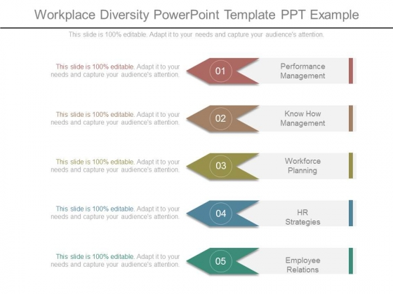 Workplace Diversity Powerpoint Template Ppt Example