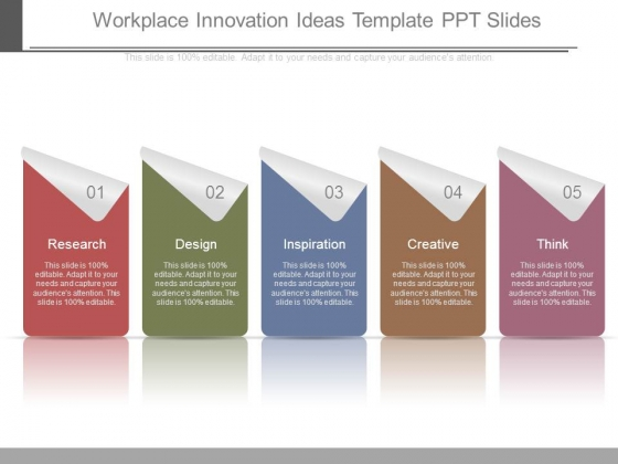 Workplace Innovation Ideas Template Ppt Slides