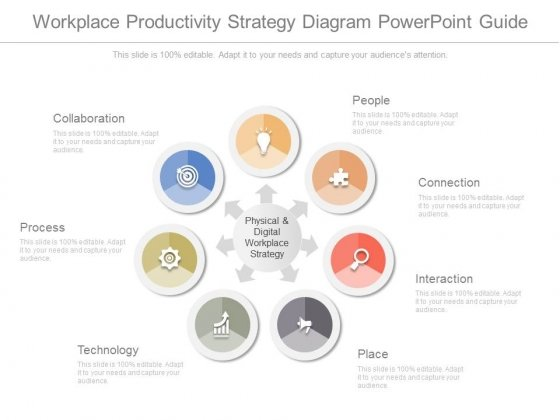 Workplace Productivity Strategy Diagram Powerpoint Guide