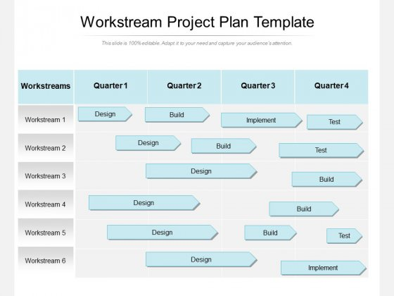 Workstream Project Plan Template Ppt PowerPoint Presentation Inspiration Master Slide PDF