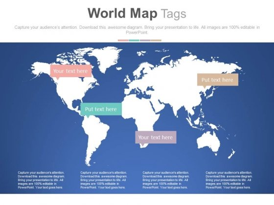 World Map For Global Economic Scenario PowerPoint Slides