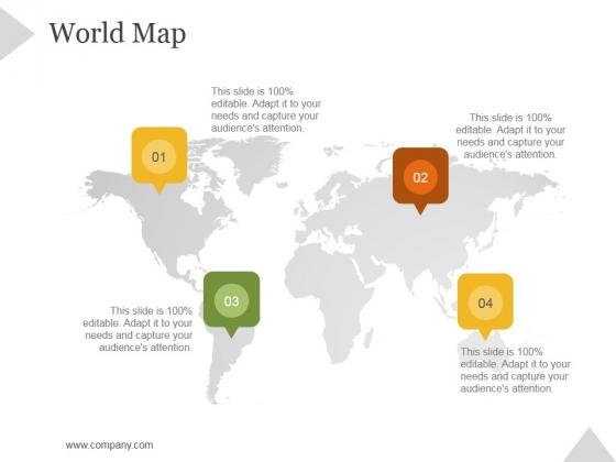 World Map Ppt PowerPoint Presentation Show - PowerPoint