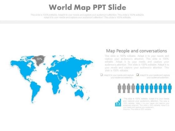World Map Ppt Slide