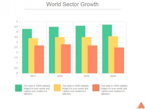 World Sector Growth Ppt PowerPoint Presentation Sample