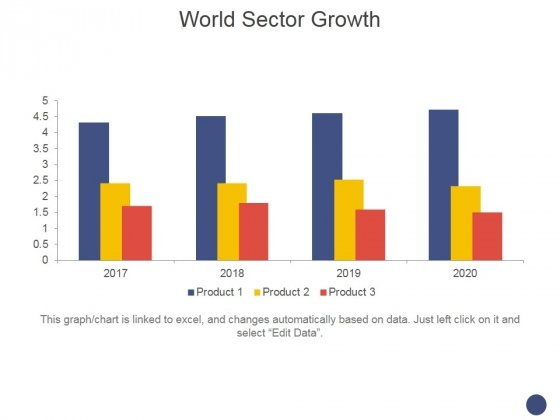 World Sector Growth Ppt PowerPoint Presentation Slides Graphics Example