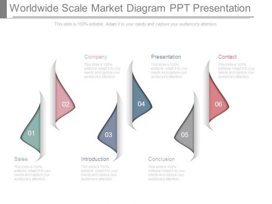 Worldwide Scale Market Diagram Ppt Presentation