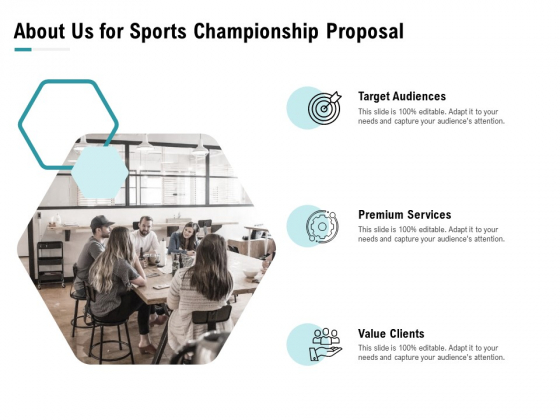 Worldwide Tournament About Us For Sports Championship Proposal Services Ppt Ideas Maker PDF