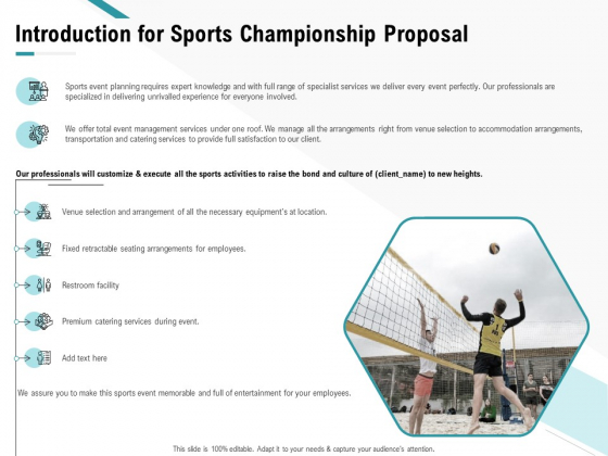 Worldwide Tournament Introduction For Sports Championship Proposal Ppt File Rules PDF
