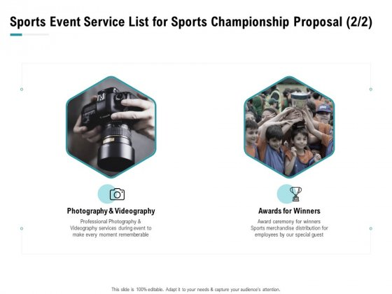 Worldwide Tournament Sports Event Service List For Sports Championship Proposal Ppt Styles Graphics PDF