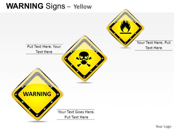 Warning Materials Warning Signs PowerPoint Slides And Ppt Diagram Templates
