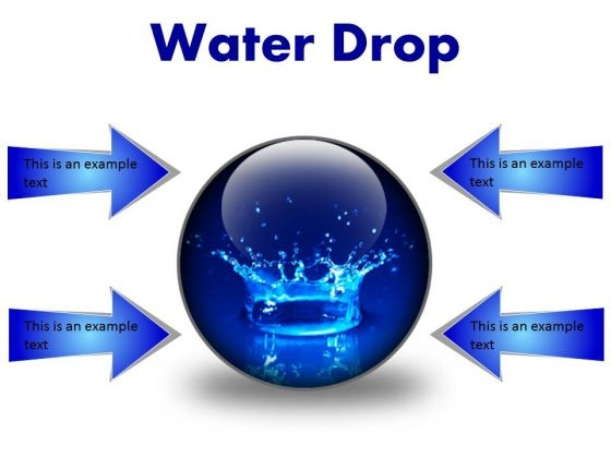 Water Drop Abstract PowerPoint Presentation Slides C