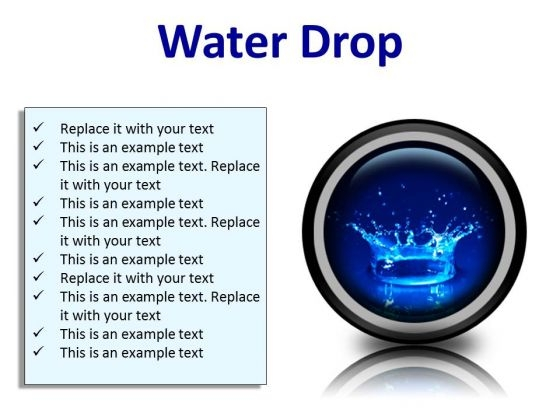 Water Drop Abstract PowerPoint Presentation Slides Cc