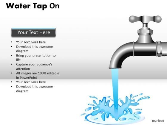 Water Flowing From Faucet PowerPoint Slides And PowerPoint Templates