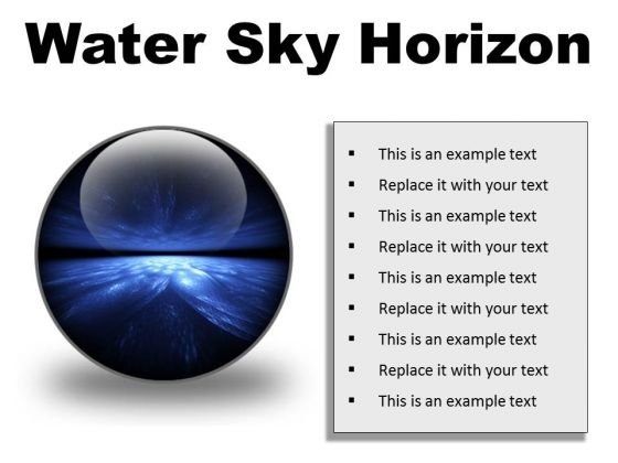 Water Sky Horizon Abstract PowerPoint Presentation Slides C