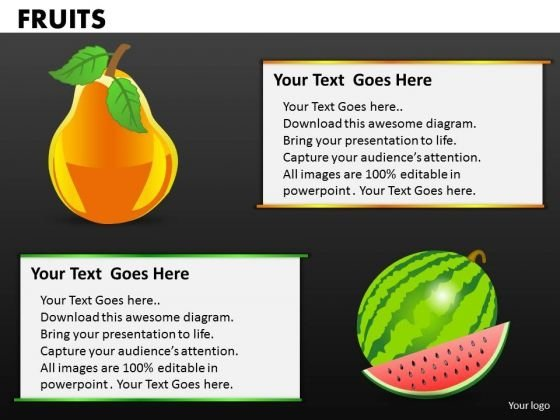 Watermellon And Pears PowerPoint Templates