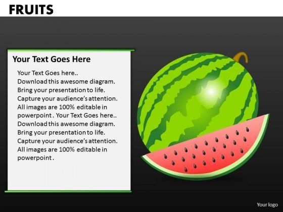 Watermellon Fruits PowerPoint Ppt Templates
