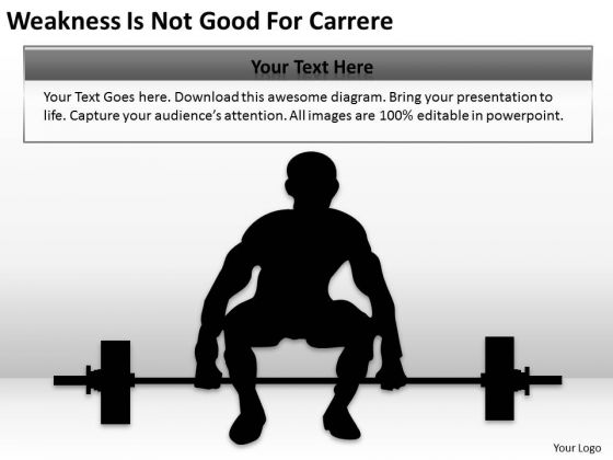 Weakness Is Not Good For Carrer Ppt Writing Simple Business Plan PowerPoint Slides