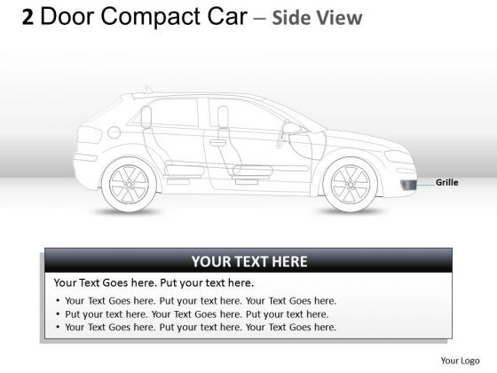 Wealth 2 Door Gray Car Side PowerPoint Slides And Ppt Diagram Templates