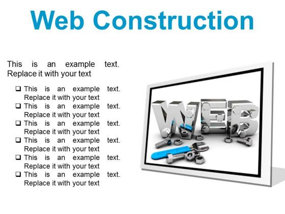 Web Construction Industrial PowerPoint Presentation Slides F
