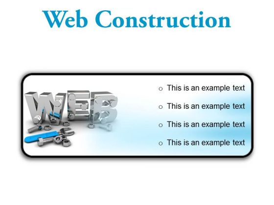 Web Construction Industrial PowerPoint Presentation Slides R