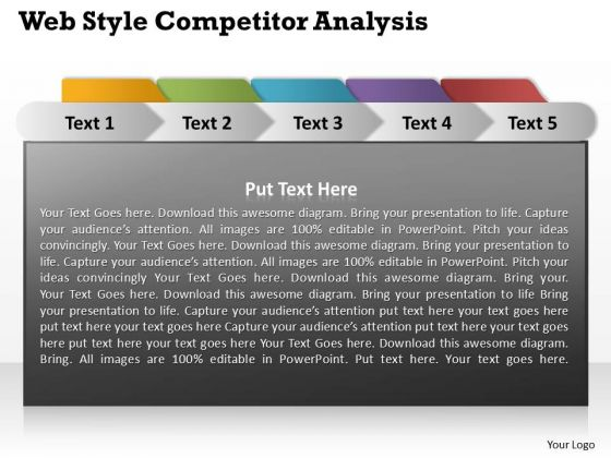 Web Style Competitor Analysis Circular Diagram Ppt PowerPoint Templates