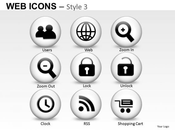Web Zoom In Out Icons PowerPoint Slides And Ppt Diagram Templates