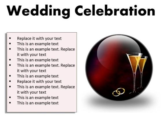 Wedding Celebration Family PowerPoint Presentation Slides C