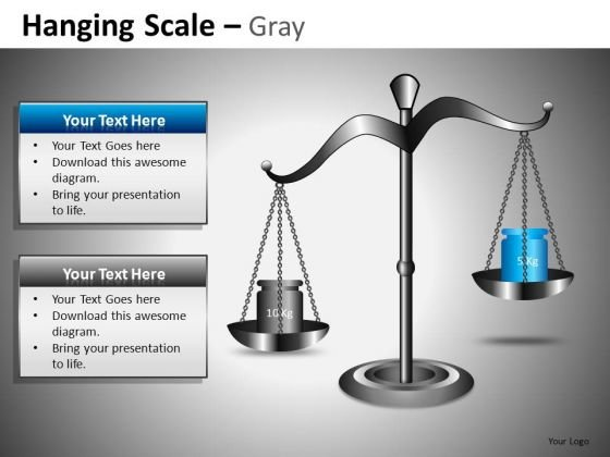 Weighing Scales Weighing 2 Options PowerPoint Slides And Editable Ppt