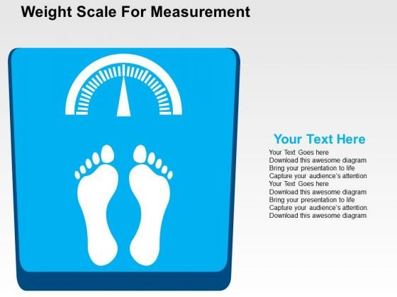 Weight Scale For Measurement PowerPoint Template