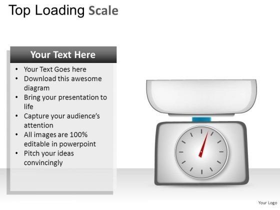 Weight Top Loading Scale PowerPoint Slides And Ppt Diagram Templates