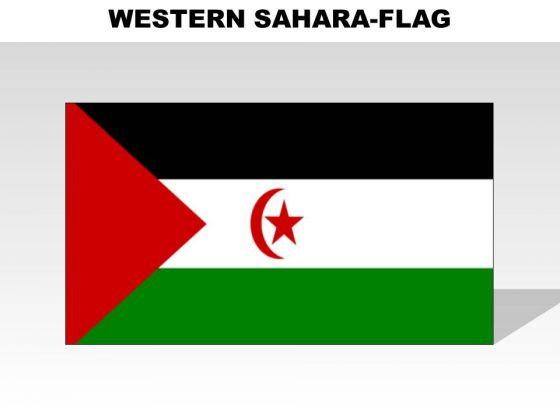 Western Sahara Country PowerPoint Flags