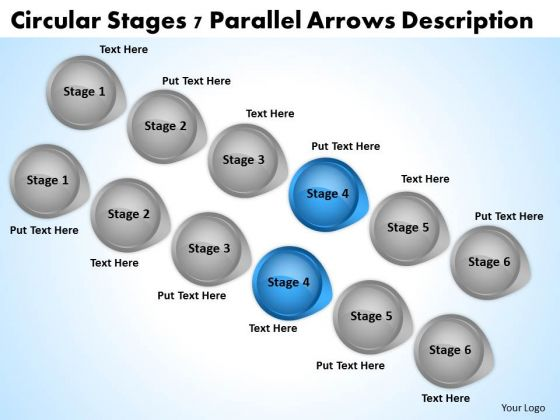 What Is Parallel Processing Circular Stages 7 Arrow Description PowerPoint Slides