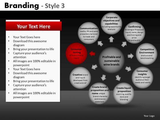 Wheel And Spoke Diagram Editable PowerPoint Slides