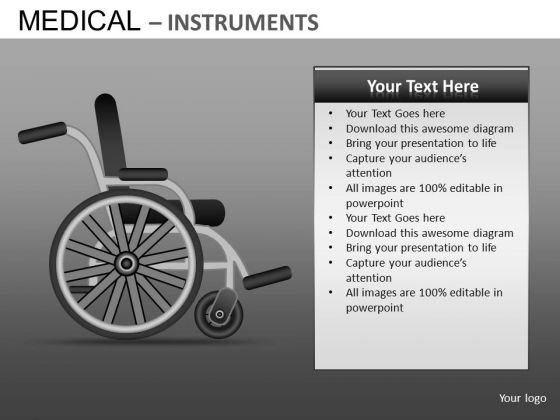Wheel Chair Hospital PowerPoint Templates
