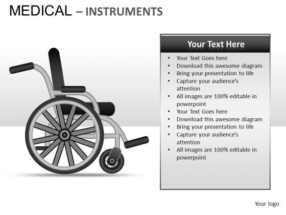 Wheel Chair Medical Instrument PowerPoint Slides And Ppt Template Diagrams