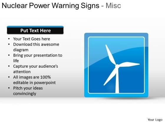 Wind Energy PowerPoint Icon Slide