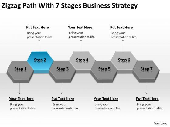 With 7 Stages Business Strategy Examples Ppt Download Plan Template PowerPoint Slides