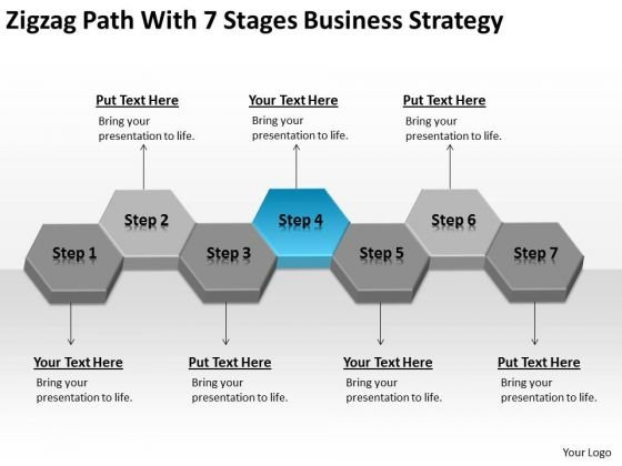 With 7 Stages Business Strategy Planning Ppt Sample Small PowerPoint Templates